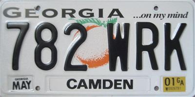 Camden License-Plate-782-WRK