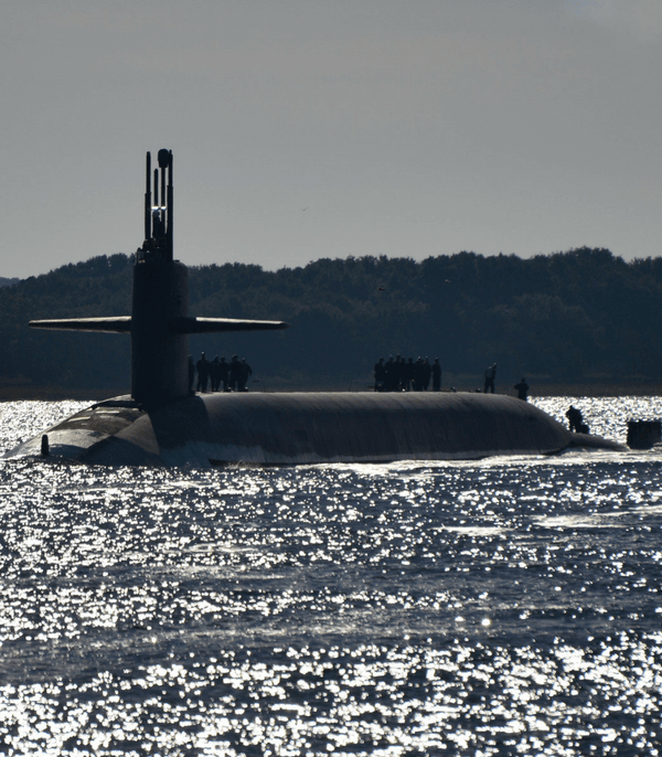 Navy Submarine in Water